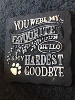 Latex Mould to make this Square Shaped Pet Memorial Plaque